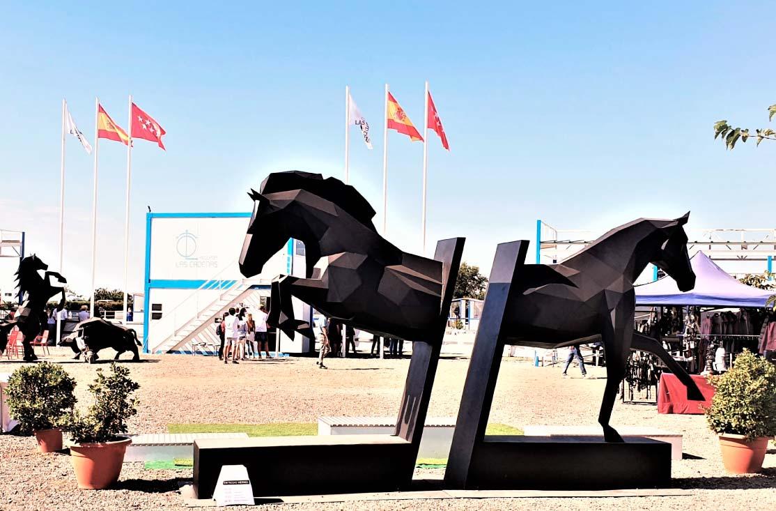 caballos-escultura-acero-sculpturewoyto-ecuestre