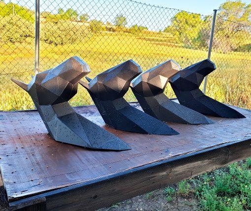 escultura-cabeza-caballo-poligonal-sculpturewoyto