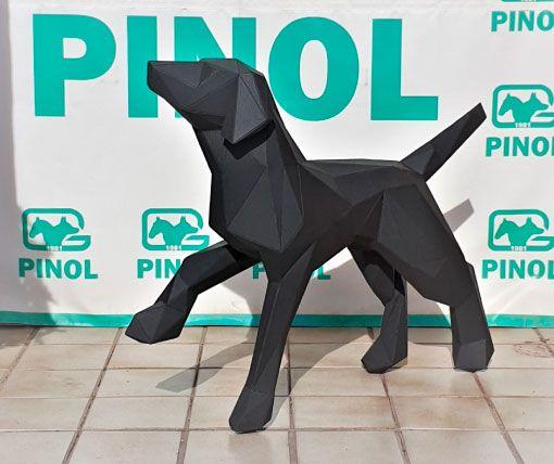escultura-perro-poligonal-sculpturewoyto